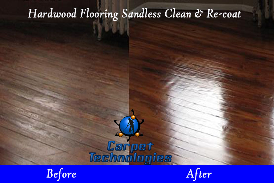 Hardwood floor cleaning and re coat Rejuvenate wood floor